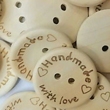 100Pcs Butterfly Love Heart Letter Carved Sewing Scrapbooking Buttons Dreamed