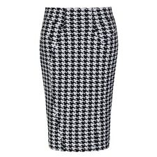 NEW VINTAGE 50'S STYLE CHIC MIRANDA DOGTOOTH PENCIL WIGGLE PARTY SKIRT