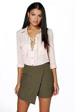 Boohoo Womens Madison Asymmetric Pocket Skort