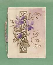 Lovely Unused Die-Cut Fold-Out VICTORIAN BIRTHDAY GREETING CARD/BOOKLET