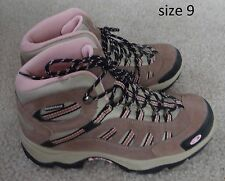 Hi-Tec Taupe/Blush/Gray suede leather Bandera Waterproof Mid Hiking Boots,6.5-9