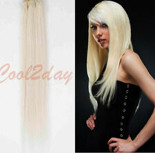 US STOCK #613 Blonde 100% Real Remy Hair Clip In Remy Human Hair Extensions