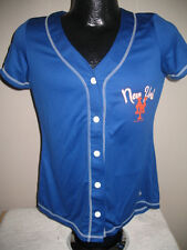 MLB New York Mets Baseball Fashion Jersey Shirt Top Womens Majestic Nwt