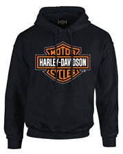Harley-Davidson Men's Bar & Shield Pullover Fleece Hooded Sweatshirt, Black