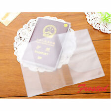 Organizer ID Card Clear Transparent Passport Cover Holder Case Travel Protect