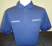 NEW MENS J. LINDEBERG EDVIN SLIM FIT LUX Jersey Golf Polo Shirt, NAVY, PICK SIZE