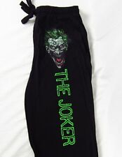 Mens Womens NEW Batman The Joker Black Pajama Lounge Sleep Pants S-2XL