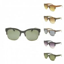 Retro Semi Horn Rimmed Vintage Style Thick Frame Sunglasses 40s Men Women's