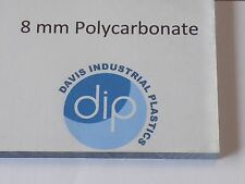 8 mm Clear POLYCARBONATE Sheet Free Post