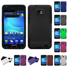 For Samsung Galaxy S2 i9100 Hybrid Rugged Impact Hard Soft Case Phone Cover