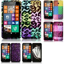 For Nokia Lumia 630 635 Snap-On Design Rubberized Hard Phone Case Cover