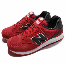 New Balance ML574CND D Red Black Men Suede Running Shoes Sneakers ML574CNDD