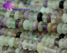 Discount Wholesale Natural Rainbow Fluorite Rondelle Small Loose Stone beads