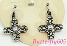 Brighton Glimmer Cross French Wire Earrings NWT