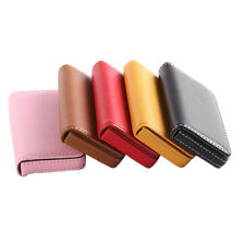 1 Pc New Pocket PU Leather Business ID Credit Card Holder Case Wallet HU