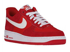 NEW MENS NIKE AIR FORCE 1 LOW BASKETBALL SHOES TRAINERS GAME RED / WHITE