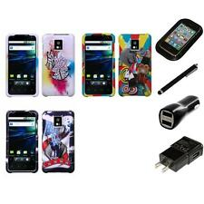 For LG Optimus G2X P990 Design Snap-On Hard Case Phone Cover Charger Stylus