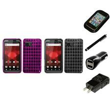 For Motorola Droid Bionic XT875 TPU Rubber Skin Flexible Case Cover Charger