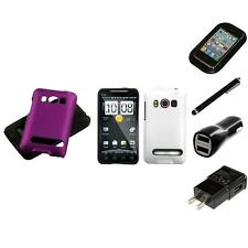 For HTC Evo 4G Hybrid 2-Piece Hard Soft Case Phone Cover Skin Charger Stylus