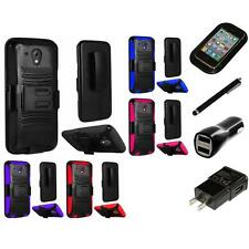 For HTC Desire 520 Heavy Duty Rugged Stand Belt Clip Holster Case Charger Stylus