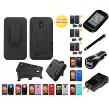 For Alcatel One Touch Conquest Hybrid IMPACT Hard TUFF Hybrid Case Charger