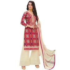 Ready to Wear Cotton Embroidered Salwar Kameez Palazzo Pants Indian-Bhoomi-08
