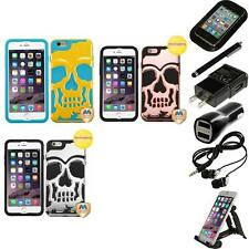 For iPhone 6/6S Plus [5.5] Hybrid Skull Skeleton Hard Case Accessories