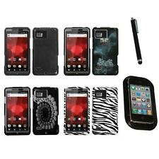 For Motorola Droid Bionic XT875 Design Snap-On Hard Case Phone Cover Mount+Pen
