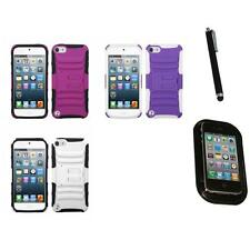 For Apple iPod Touch 5th 6th Gen Hybrid IMPACT Hard TUFF Hybrid Case Mount+Pen