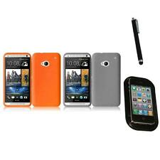 For HTC One M7 Silicone Skin Soft Rubber Case Phone Cover Mount+Pen