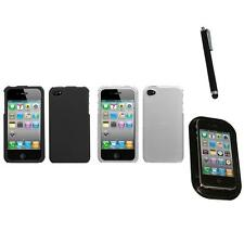 For Apple iPhone 4/4S Snap-On Hard Case Phone Cover Skin Accessory Mount+Pen
