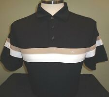 NEW J LINDEBERG JOAKIM Regular Polyester Golf Polo Shirt, BLACK, PICK SIZE, $120