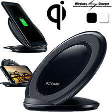 Real Qi Wireless Fast Charger Charging Stand Dock For Samsung Galaxy S6 S7 Edge