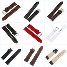 Replacement Leather Watch Strap Band Mens Stainless Steel Buckle Wrist Belt Link