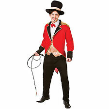 Adults Mens Circus Ringmaster Halloween Fancy Dress Up Party Costume Outfit New