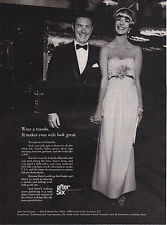 Original Print Ad-1965 Wear a Tuxedo. It makes your wife look good.  -After Six