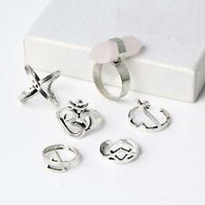 6pcs Bohemia Style Top Of Finger Midi Knuckle Rings Set Light Jewelry Gift