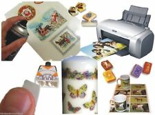 A4 Waterslide Transfer/Decal Paper Inkjet/Laser Printer for Candle, Soap, Glass