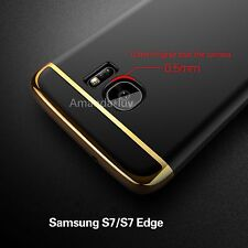 For Samsung Galaxy S7 Edge Plating Hard PC Back Case Cover Skin Screen Protector