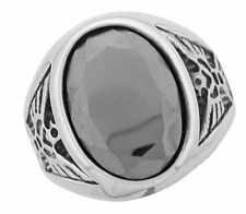 Stainless Steel Hematite Eagle Ring Size 9 10 11 12 13 14 Hypoallergenic Mens
