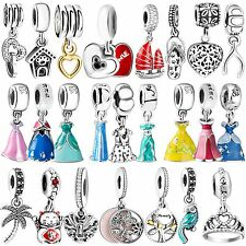 Fashion 925 Silver Charms Pendant Jewelry Bead Fit sterling Bracelets Necklace