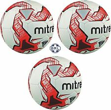 3 x MITRE IMPEL TRAINING FOOTBALLS  - Sizes 3, 4 and 5 - WHITE/RED