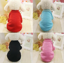 Pet Coat Dog Jacket Winter Warm Clothes Solid Color Puppy Sweater Clothing Coat