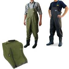 Lineaeffe PVC Chest Waders size 8 9 10 11 12 Carp Fly Fishing Tackle + Boot Bag