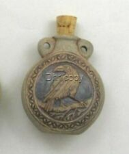Ceramic Pottery Bottle or Vessel, High Fired Raven Design