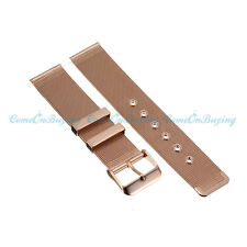 Luxury Mens Womens Rose Gold Stainless Steel Bracelet Wrist Watch Band Buckle