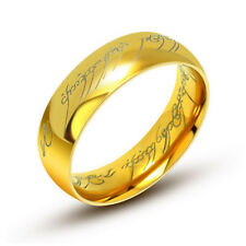 Stainless Steel Lord of the Rings The One Ring Power sauron 6mm Gold Plated 316L