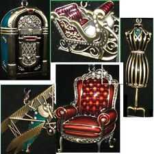 Regent Square Collectible Ornaments Juke Box, Motorcycle, Santa's Sleigh + more