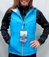 $300 Gerbing Womens Blue Puffer Electric Battery Heated Vest Ladies Size XSmall
