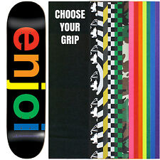 "ENJOI Skateboard Deck SPECTRUM BLACK 8.25"" with GRIPTAPE"